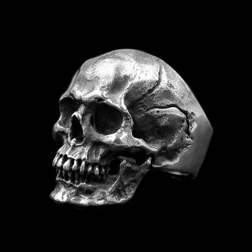 Gothic Stainless Steel Biker Skull Ring - KAUBI TRENDING EMPIRE