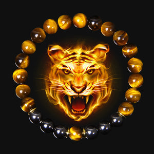 Black Obsidian Tiger eye Beads Yoga Charm Bracelets - KAUBI TRENDING EMPIRE