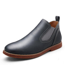 Load image into Gallery viewer, Artificial Leather Loafers Solid Black Breathable Slip-On Shoes - KAUBI TRENDING EMPIRE