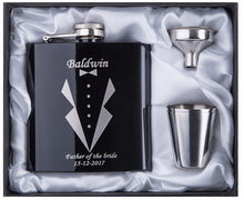Load image into Gallery viewer, Engraved 6oz Hip Flask Stainless Steel - KAUBI TRENDING EMPIRE