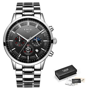 LIGE Luxury Business Waterproof Watch - KAUBI TRENDING EMPIRE