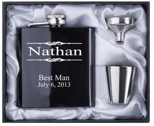 Engraved 6oz Hip Flask Stainless Steel - KAUBI TRENDING EMPIRE