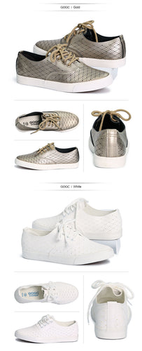 GOGC Breathable Leather Women Sneakers - kaubi-online