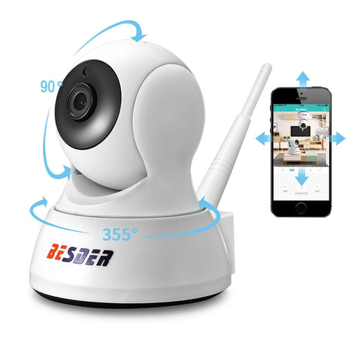 BESDER HD 720P Home Security IP Camera Two Way Audio Wireless Mini Camera 1MP Night Vision CCTV WiFi Camera Baby Monitor iCsee - KAUBI TRENDING EMPIRE