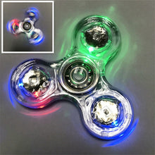 Load image into Gallery viewer, Luminous LED light Fidget Spinner Hand Top Spinners Glow in Dark toys - KAUBI TRENDING EMPIRE