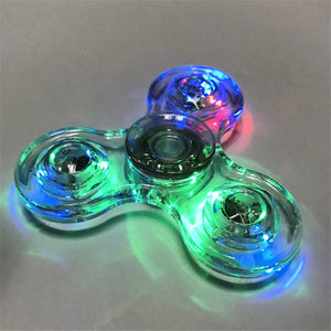 Luminous LED light Fidget Spinner Hand Top Spinners Glow in Dark toys - KAUBI TRENDING EMPIRE