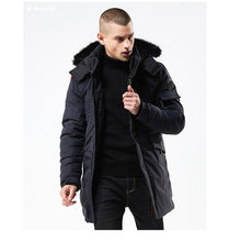 Load image into Gallery viewer, 2019 New Winter Long Style Hooded Epaulet Cotton Padded Jackets  for Men - KAUBI TRENDING EMPIRE