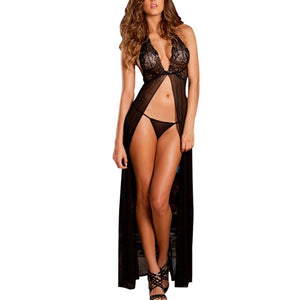 Nightgown Sleepwear Lingerie With G-string 2018 - KAUBI TRENDING EMPIRE