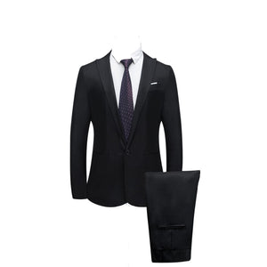 Jacket+Pant 2019 Men's Pure color suit Slim Fit - KAUBI TRENDING EMPIRE