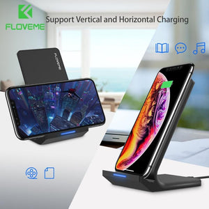 Wireless Charger For Samsung Galaxy and Wireless Charging Dock For iPhone - KAUBI TRENDING EMPIRE