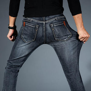 Casual  Denim Slim Jeans - KAUBI TRENDING EMPIRE