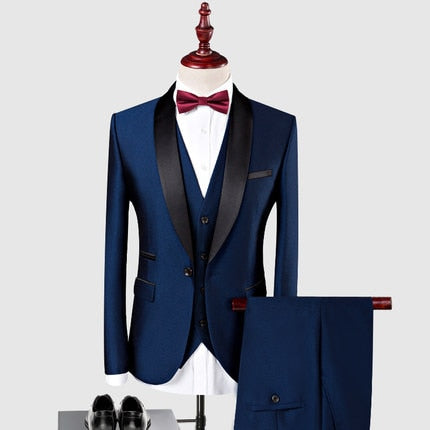 New Arrival Tuxedos for Man 3 Pieces (Jacket+Pants+Vest) - KAUBI TRENDING EMPIRE