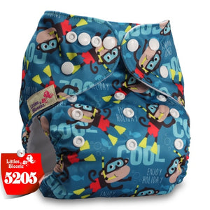 Littles&Bloomz Baby Washable Reusable Real Cloth Pocket Nappy Diaper - KAUBI TRENDING EMPIRE
