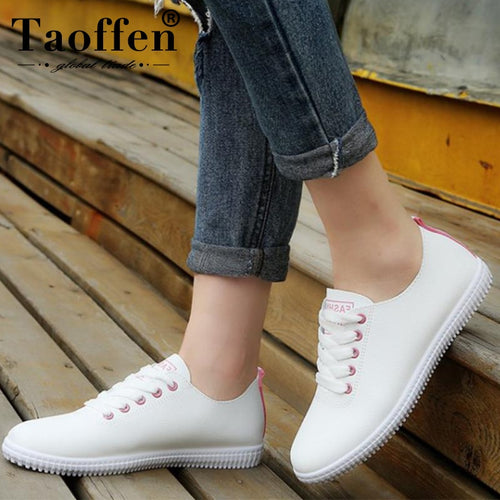 TAOFFEN Women Sneakers Ladies Vulcanized Shoes - KAUBI TRENDING EMPIRE