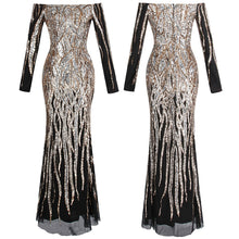 Load image into Gallery viewer, Off Shoulder Sequin Prom Gown - KAUBI TRENDING EMPIRE
