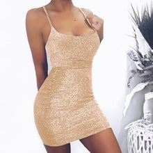 Load image into Gallery viewer, Sexy casual Spaghetti strap  slim Wrap mini dress - KAUBI TRENDING EMPIRE