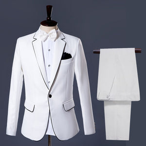White Slim Fit Suit Men Formal Attire - KAUBI TRENDING EMPIRE