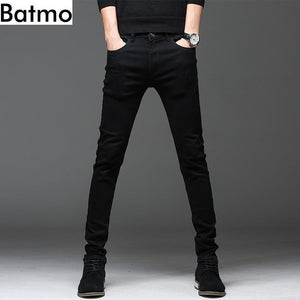 high quality casual slim elastic black jeans for men - KAUBI TRENDING EMPIRE