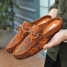 Load image into Gallery viewer, Breathable Half Slippers Loafers  for Men - KAUBI TRENDING EMPIRE