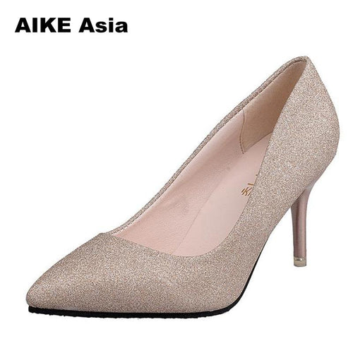 Hot 2019 Pointed Toe Sexy Pumps High Heels Shoes - kaubi-online