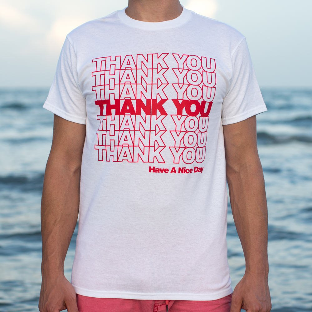 Thank You Bag T-Shirt (Mens) - KAUBI TRENDING EMPIRE