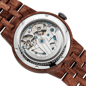 Men's Dual Wheel Automatic Kosso Wood Watch - 2019 Most Popular - KAUBI TRENDING EMPIRE