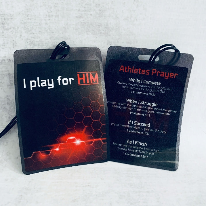Athletes Prayer Bag Tag
