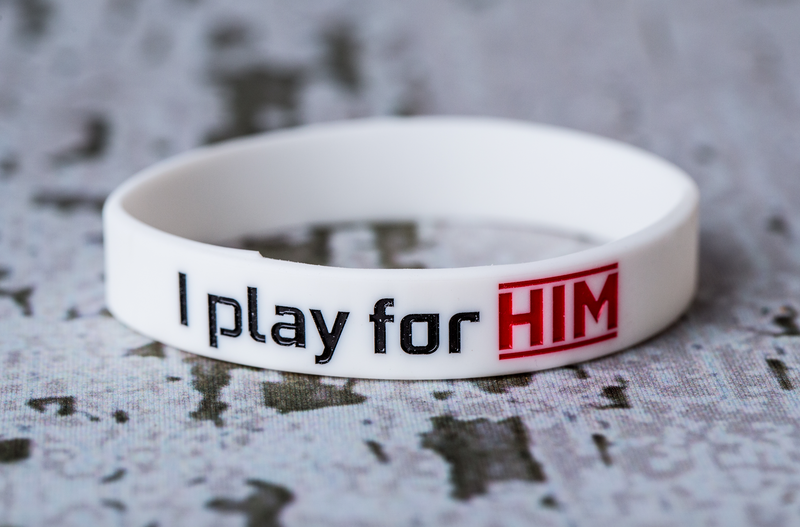 I play for Him Wristband