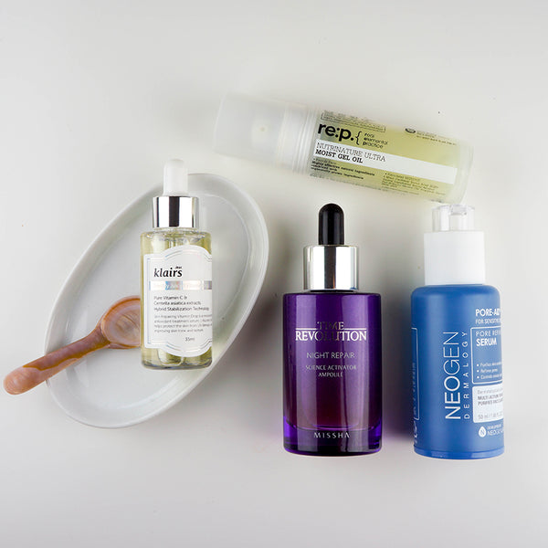 korean serums vs ampoules vs boosters