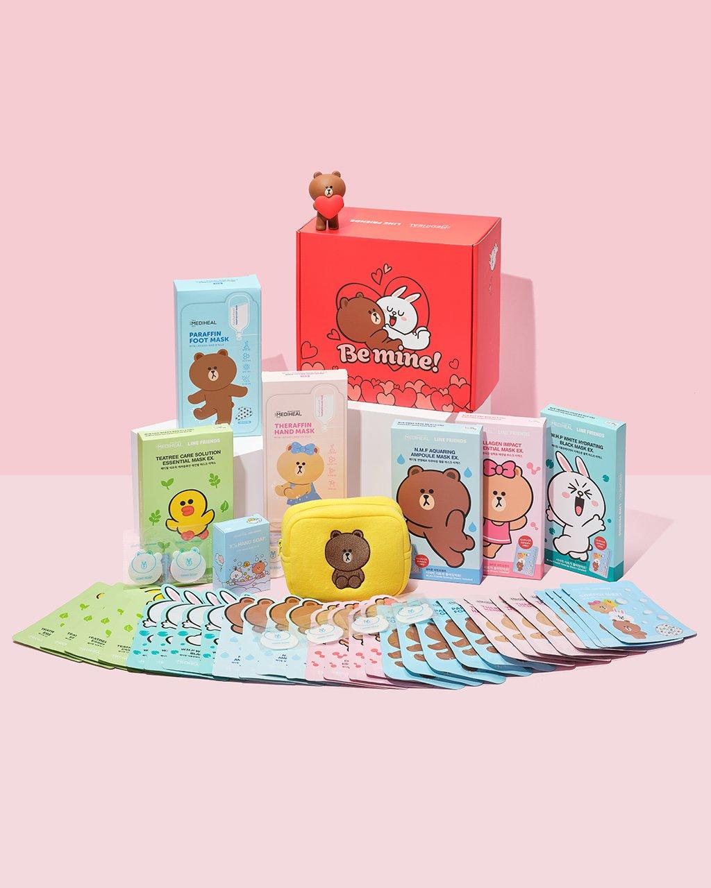 MEDIHEAL X LINE FRIENDS Be Mine Gift Box