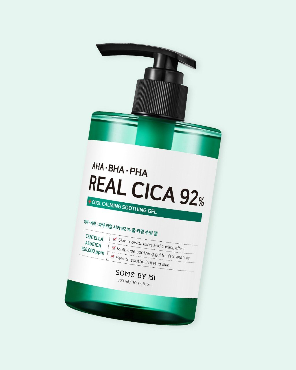 AHA-BHA-PHA Real Cica 92% Cool Calming Soothing Gel