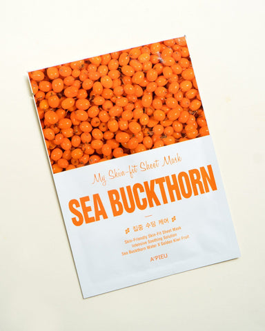 My Skin-Fit Sheet Mask (Sea Buckthorn), sheet mask, skin care, skincare
