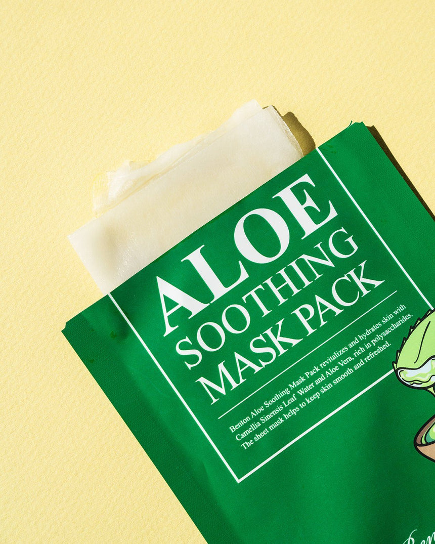 Benton Aloe Soothing Mask Pack (10 Pack) - sheet mask with the package