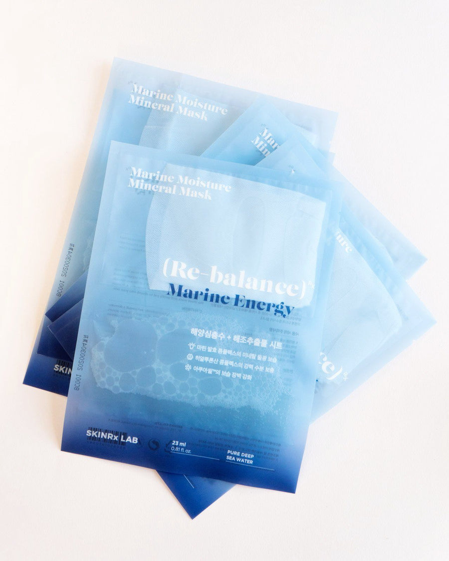 Skinrx Lab Marine Moisture Mineral Mask (5 Pack), sheet mask, skin care, skincare, clean beauty