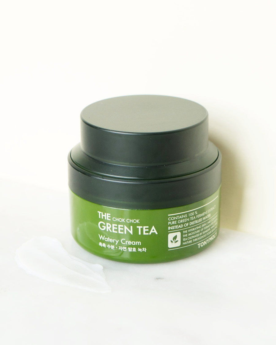 Tony Moly Chok Chok Green Tea Watery Cream, facial moisturizer, skin care, skincare