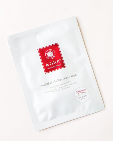 Atrue, Real Black Tea True Active Mask, skincare, skin care, sheet mask, vegan beauty, vegan skincare