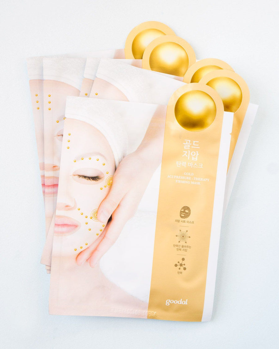Goodal Gold Acupressure-Therapy Lifting Mask (5 Pack), sheet mask, skincare, skin care