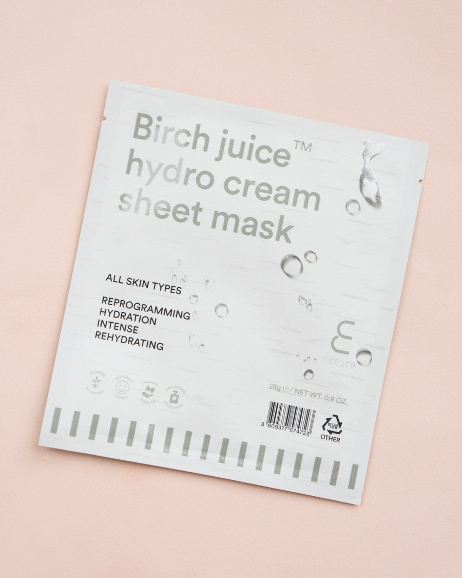 ENATURE Birch Juice Hydro Cream Sheet Mask, skincare, skin care, clean beauty
