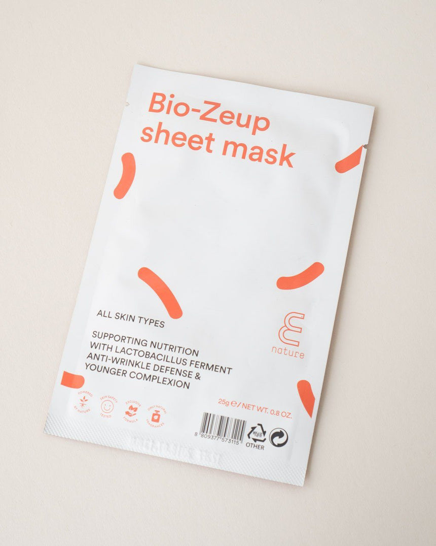 ENATURE Bio-Zeup Sheet Mask, skincare, skin care, clean beauty
