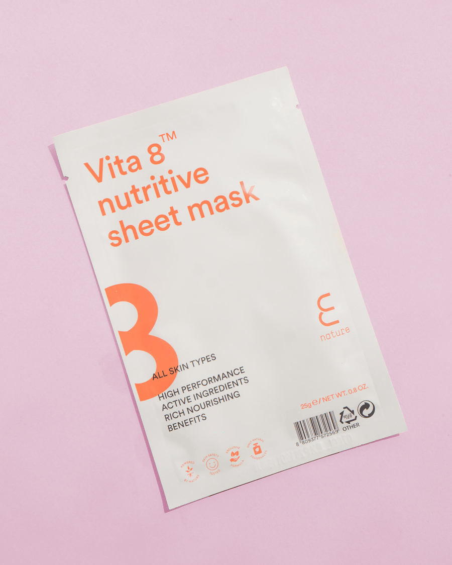 ENATURE Vita 8 Nutritive Sheet Mask, skincare, skin care