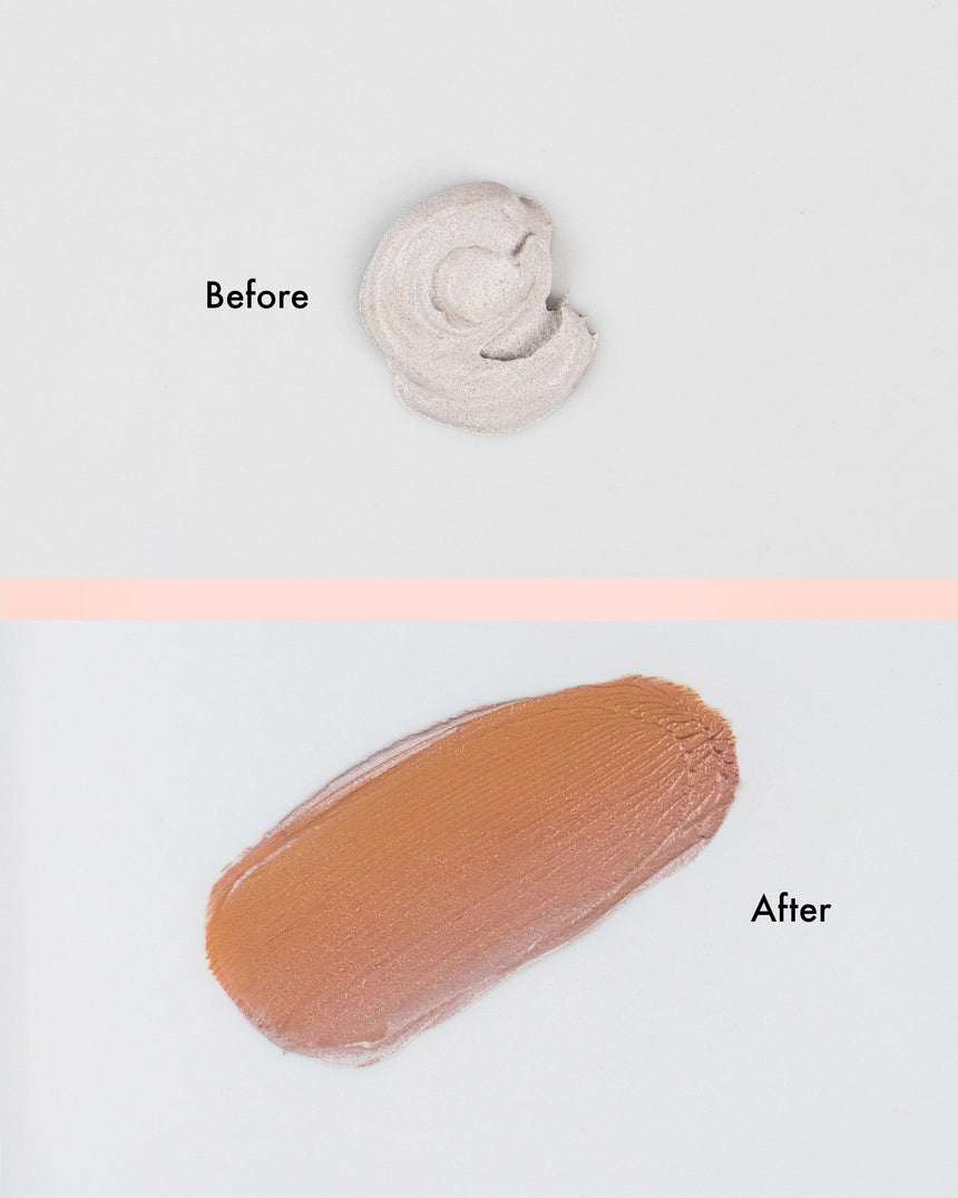 Erborian CC Crème- cream color changes after applying from light grey to bb cream color