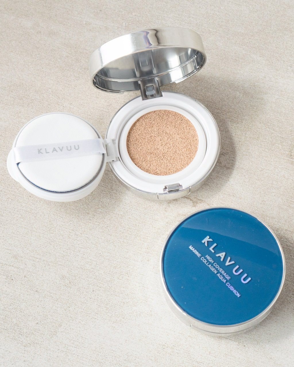 KLAVUU High Coverage Marine Collagen Aqua Cushion [SPF50+/PA+++], foundation, makeup