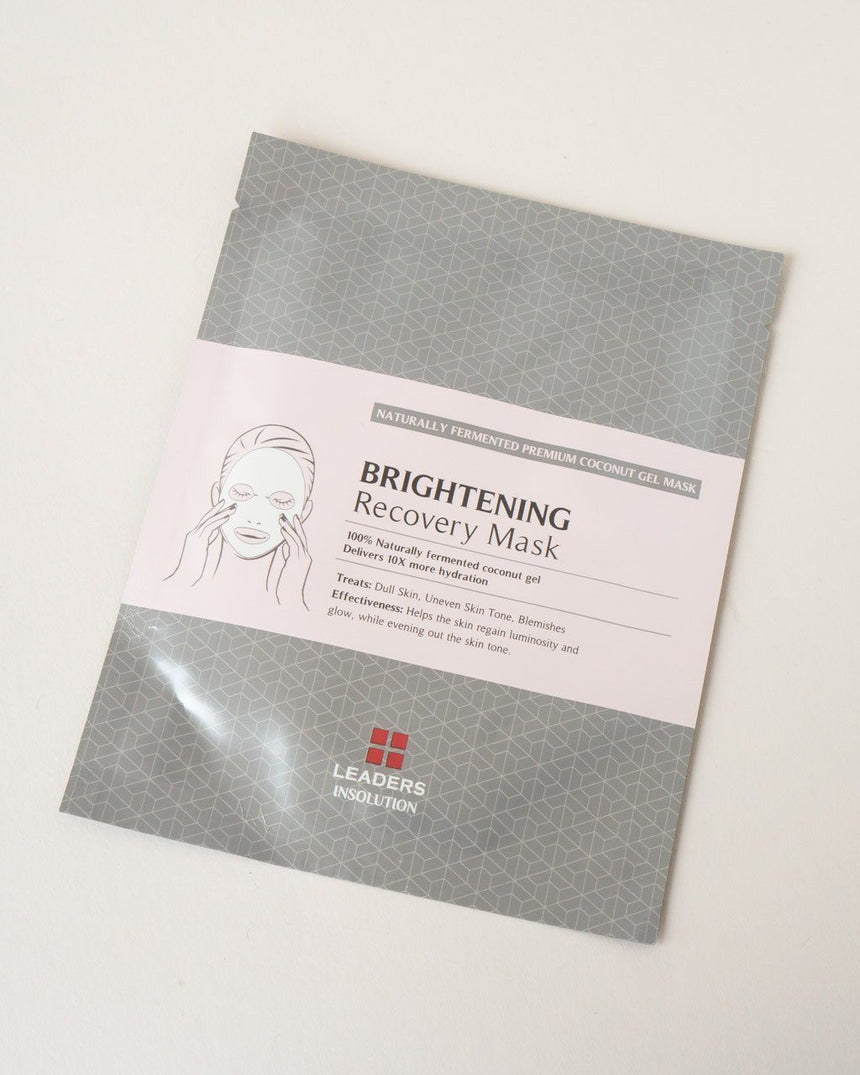 LEADERS Brightening Recovery Mask, sheet mask, skin care, skincare