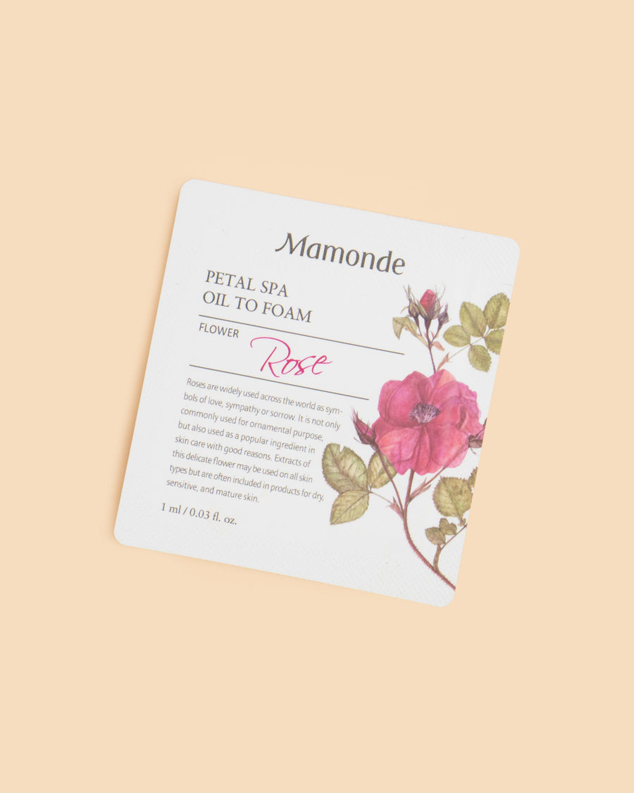 Petal Spa Oil To Foam Cleanser Packette Sample (1ml)