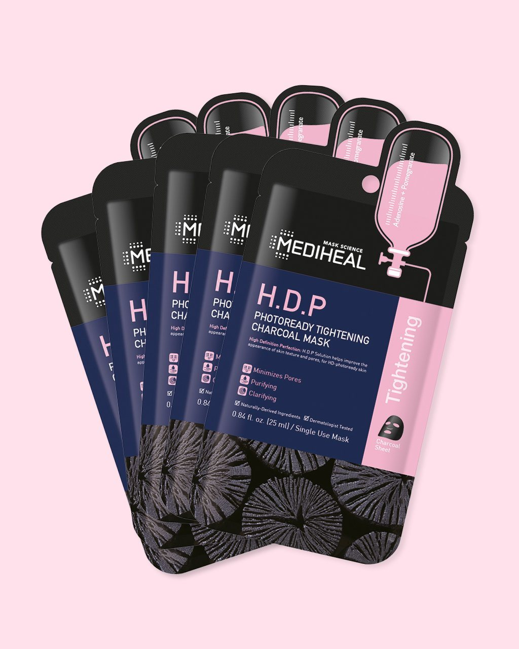 H.D.P Photoready Tightening Charcoal Mask (5 pack)