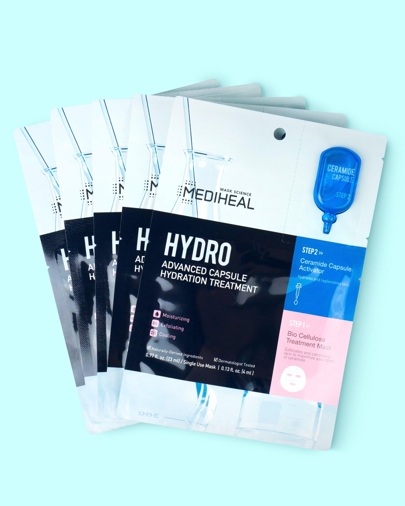 Hydro Advanced Capsule Hydration Treatment Sheet Mask (5 pack)