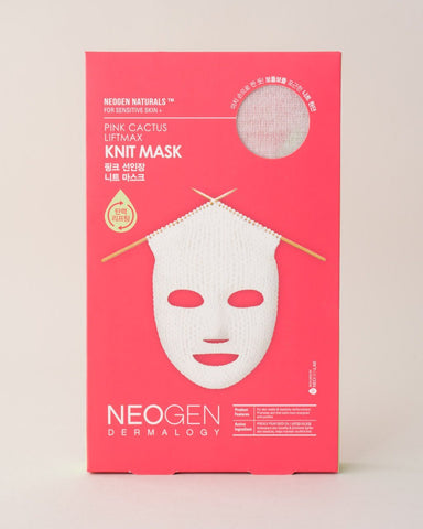 NEOGEN Pink Cactus Liftmax Knit Mask, sheet mask, skincare, skin care