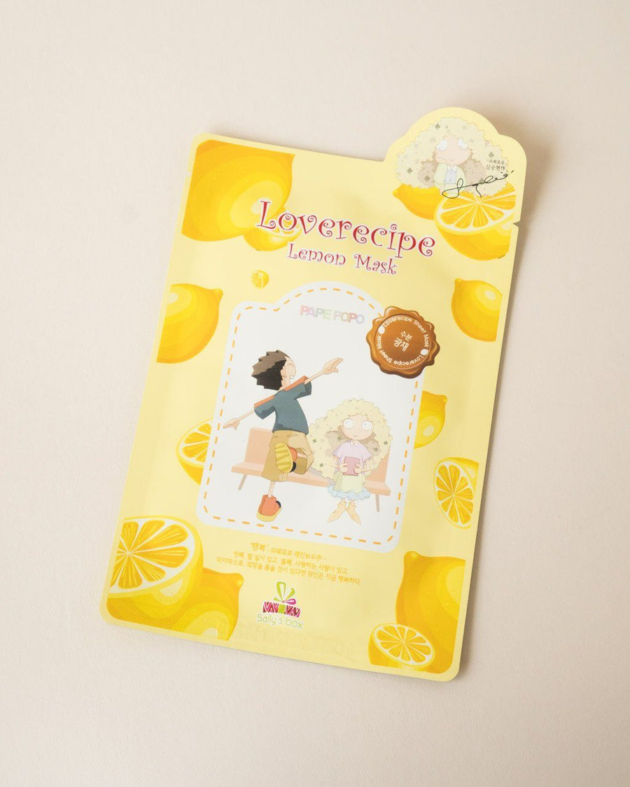 SALLY'S BOX Loverecipe Lemon Mask, sheet mask, skin care, skincare