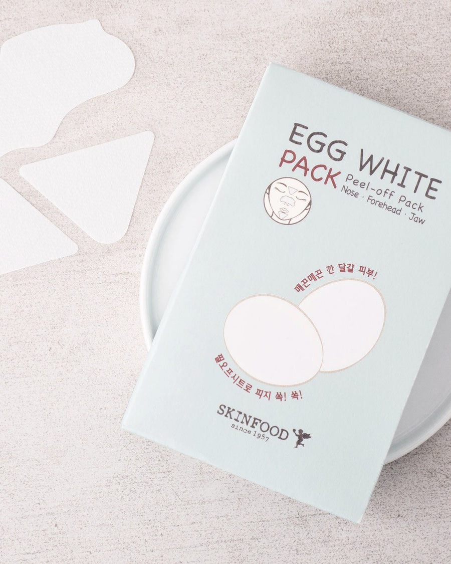SKINFOOD Egg White Pack (Peel Off Pack), pore strips, skin care, skincare