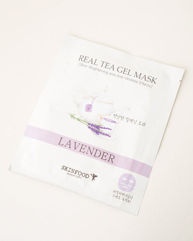 SKINFOOD Real Tea Gel Mask - Lavender